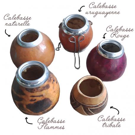 Les calebasses naturelles pour préparer un maté traditionnel