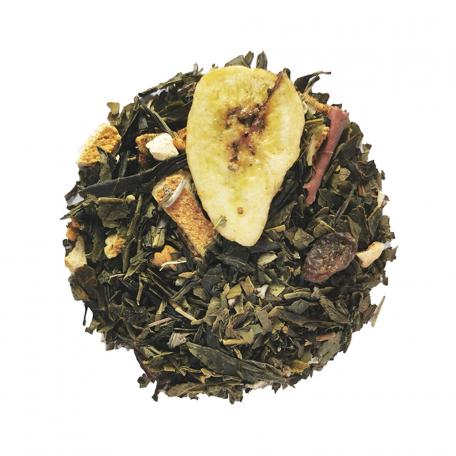 Blend de thé vert et maté fruité - Orange, raisin, pomme, banane