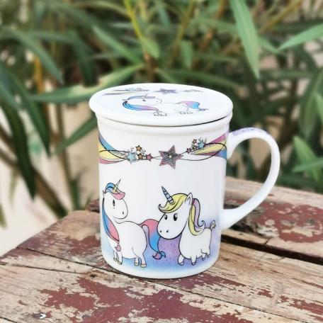 Mug licorne 250 ml avec filtre intégré