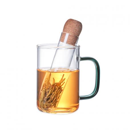 Infuseur à thé tube en verre et bouchon de liège