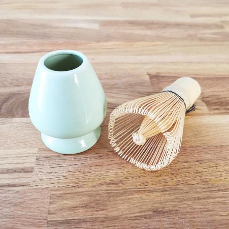 Porte-fouets Matcha en céramique