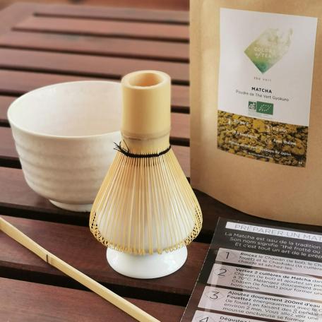 Cuillère à Matcha en bambou faite main