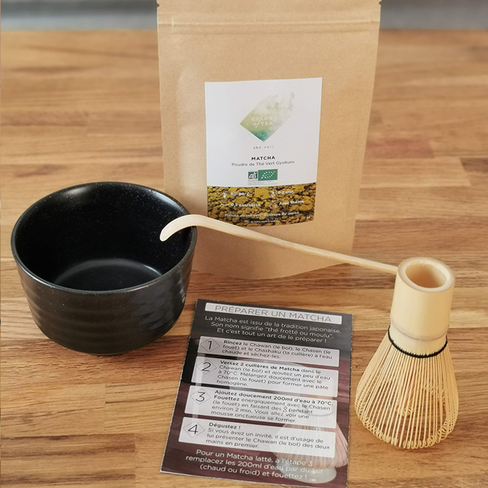 coffret matcha noir Colors of Tea