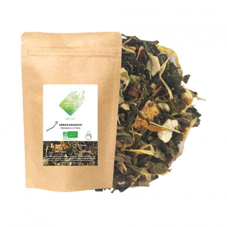 Thé vert gourmand - Mandarine et noix