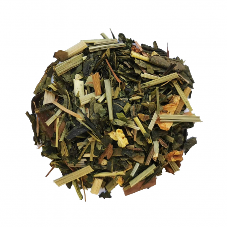 Mélange de thé vert et de maté détox - Citronnelle