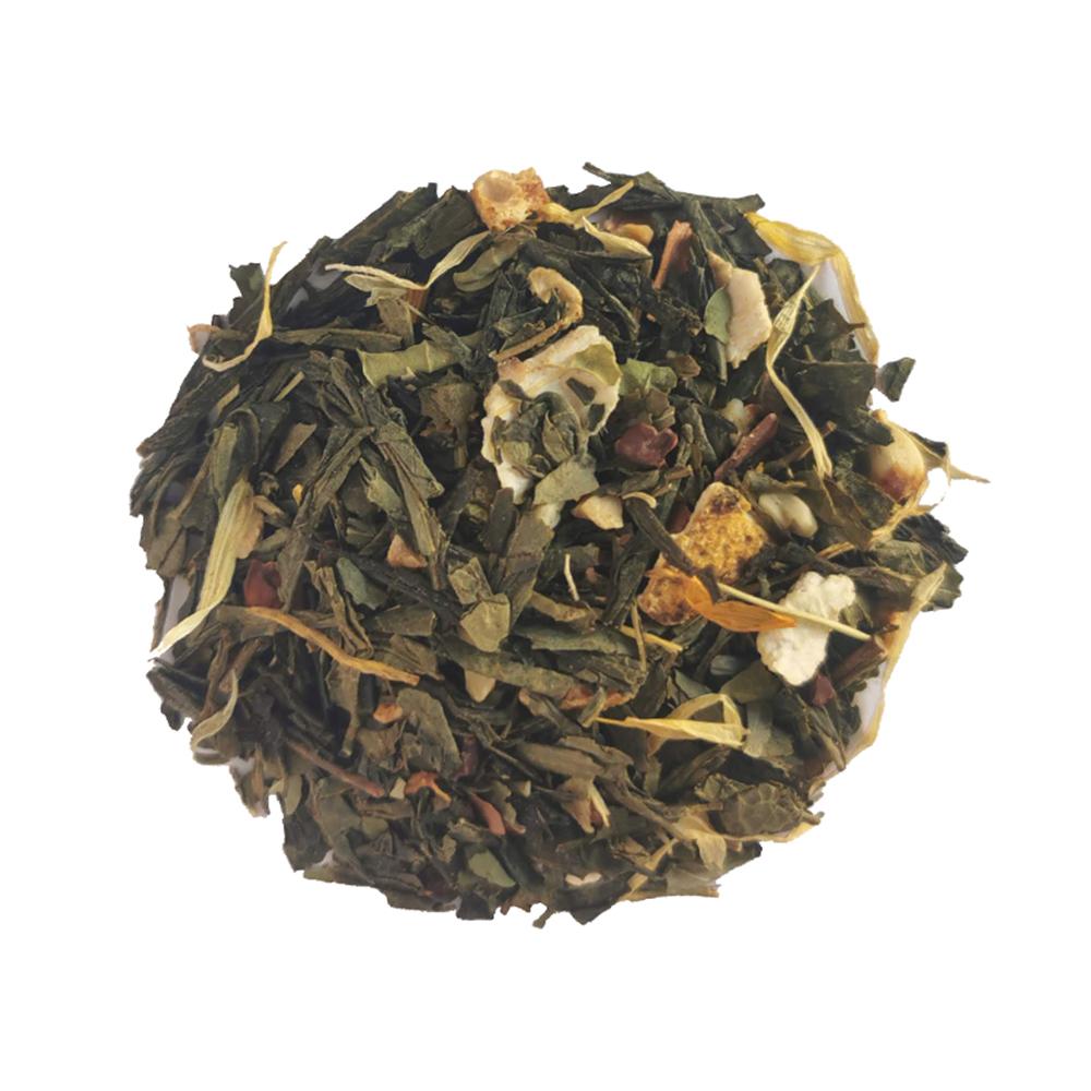Abracadanoix - Thé vert gourmand - Mandarine et noix Colors of Tea