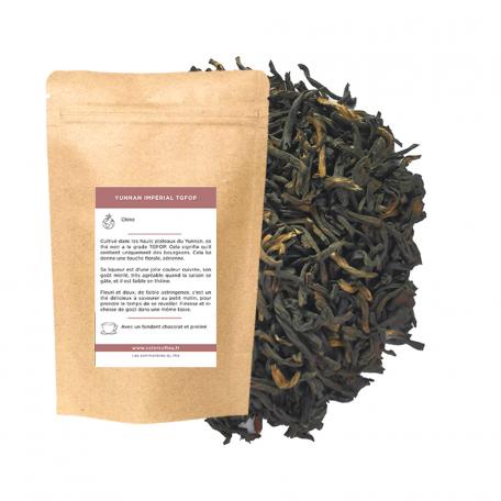Thé noir du Yunnan - Thé Impérial aiguilles d'or