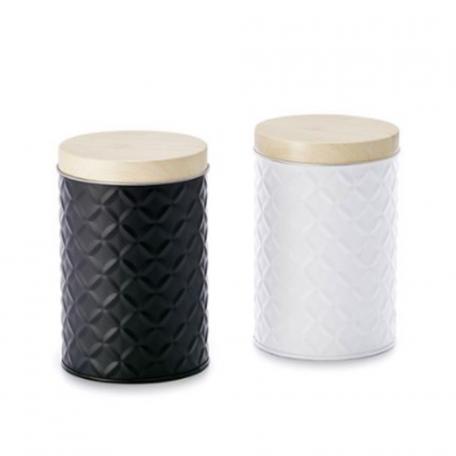 Boîte à thé en inox et bambou