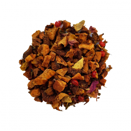 Tisane ayurvédique - Tulsi, orange et gingembre