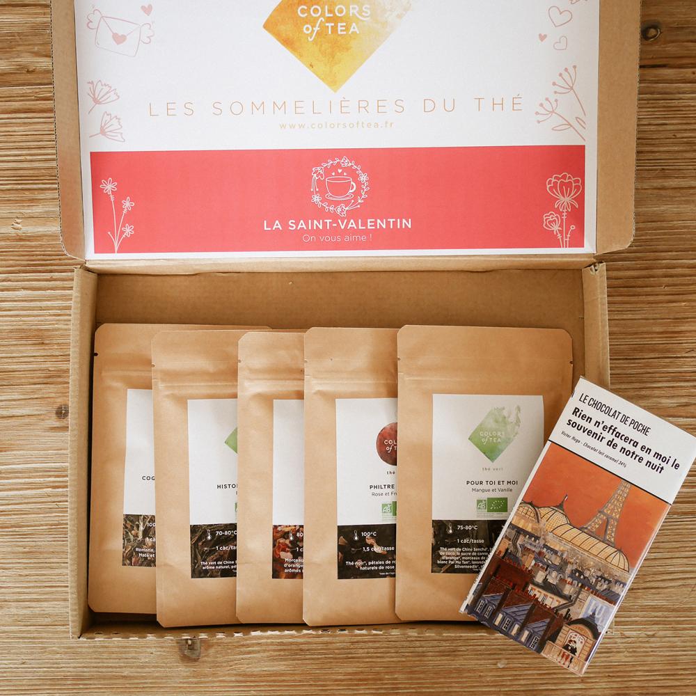 ÉDITION LIMITÉE SAINT VALENTIN GOURMANDE Les sélections Chocolat poétique Colors of Tea