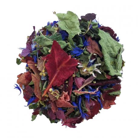 Tisane florale - Reine des prés, vigne rouge et coquelicot
