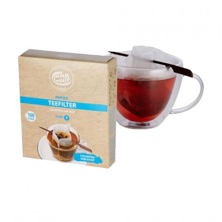 100 filtres à thé et leur stick