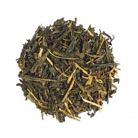 Blend de thé vert et Rooibos gourmand - Caramel et fruits rouges