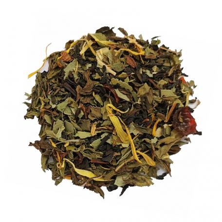 Thé noir végétal - Menthe poivrée et eucalyptus