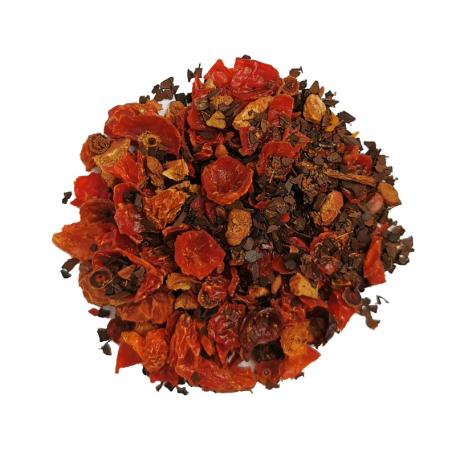 Tisane de maté floral - Églantier et maté torréfié
