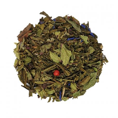 Thé vert végétal - Menthe poivrée, basilic et thym BIO colors of tea