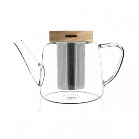 Théière en verre et couvercle en bois 680ml Colors of Tea
