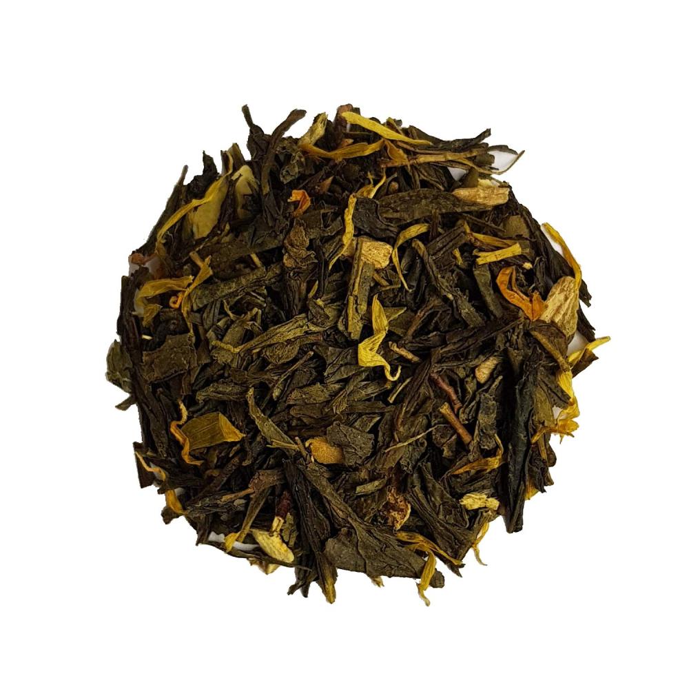 FEU SAUVAGE Thé vert Thé vert épices et agrûmes - Gingembre et Écorces d'Orange Colors of Tea