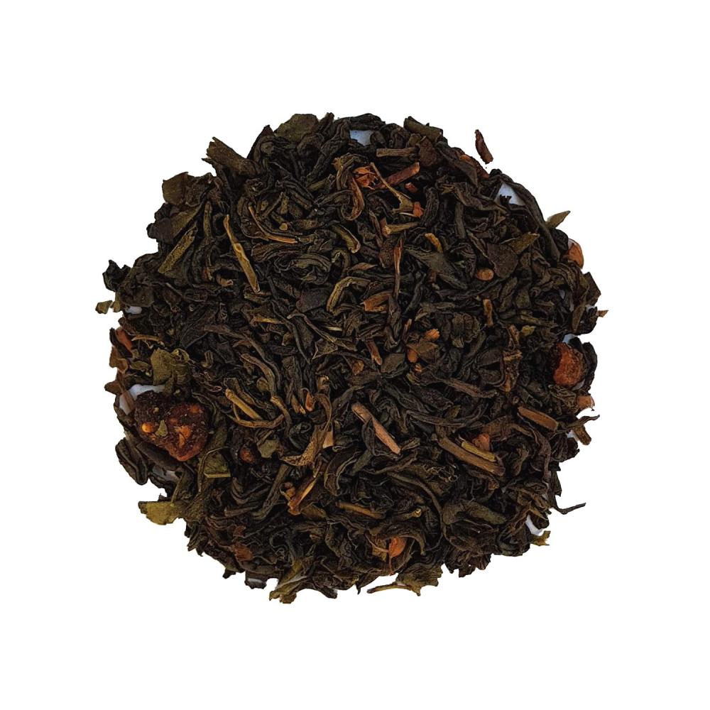 Mélange de thé vert et blanc fruité - Figue, Mandarine et Acérola