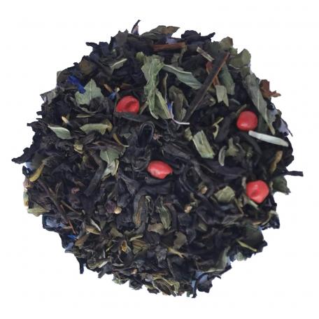 Thé noir végétal - Thym, basilic et menthe