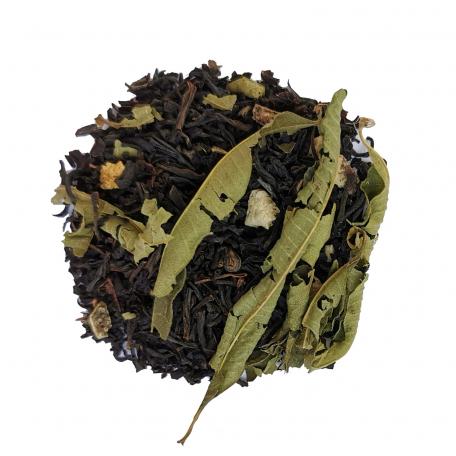 Mélange de thé noir nature et fumé agrûme - Citron et verveine
