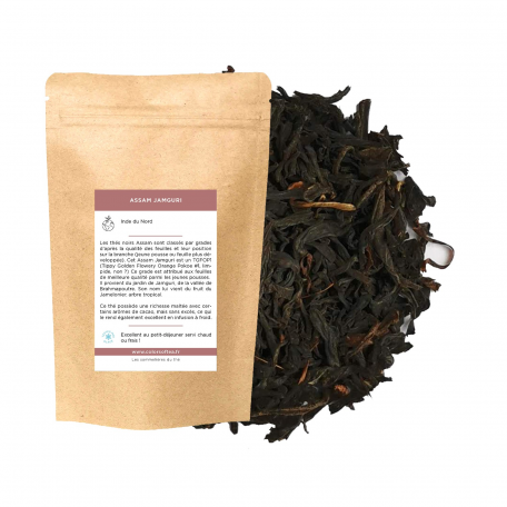 Thé noir du jardin Jamguri,  jeunes pousses