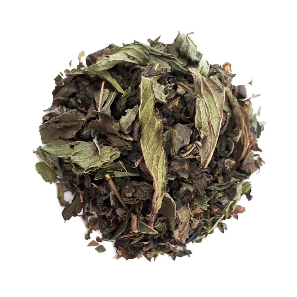 Thé vert végétal - Menthe poivrée