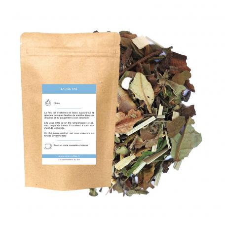 Blend de thé vert et blanc épicé - Gingembre et menthe