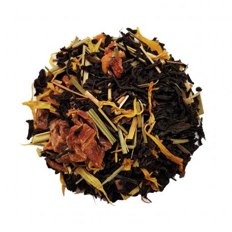Thé noir exotique - Mangue, citron vert et ananas