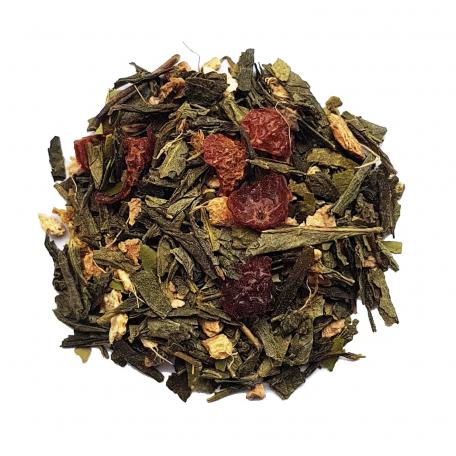 Mélange de thé vert et maté anti gueule-de-bois - Gingembre et guarana