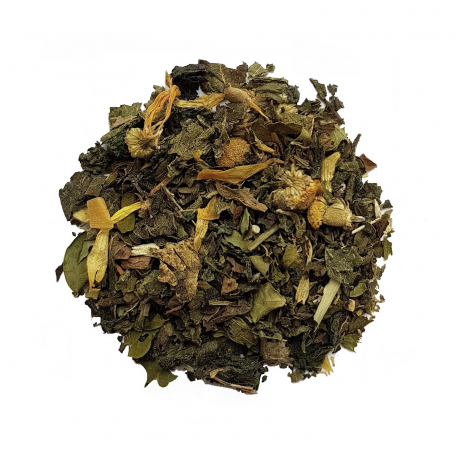 Mélanges de plantes et thé vert détox - Coco et citron Vert