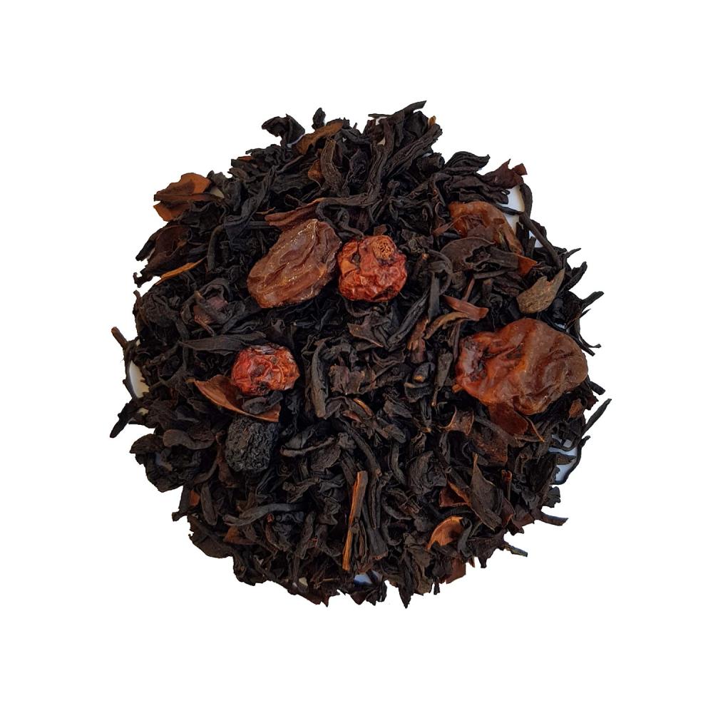 Thé noir gourmand - Brownies et fruits rouges