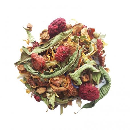 Tisane fruitée - Fraise, framboise et menthe