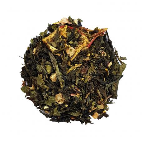 Thé vert fruité - Grenade et menthe