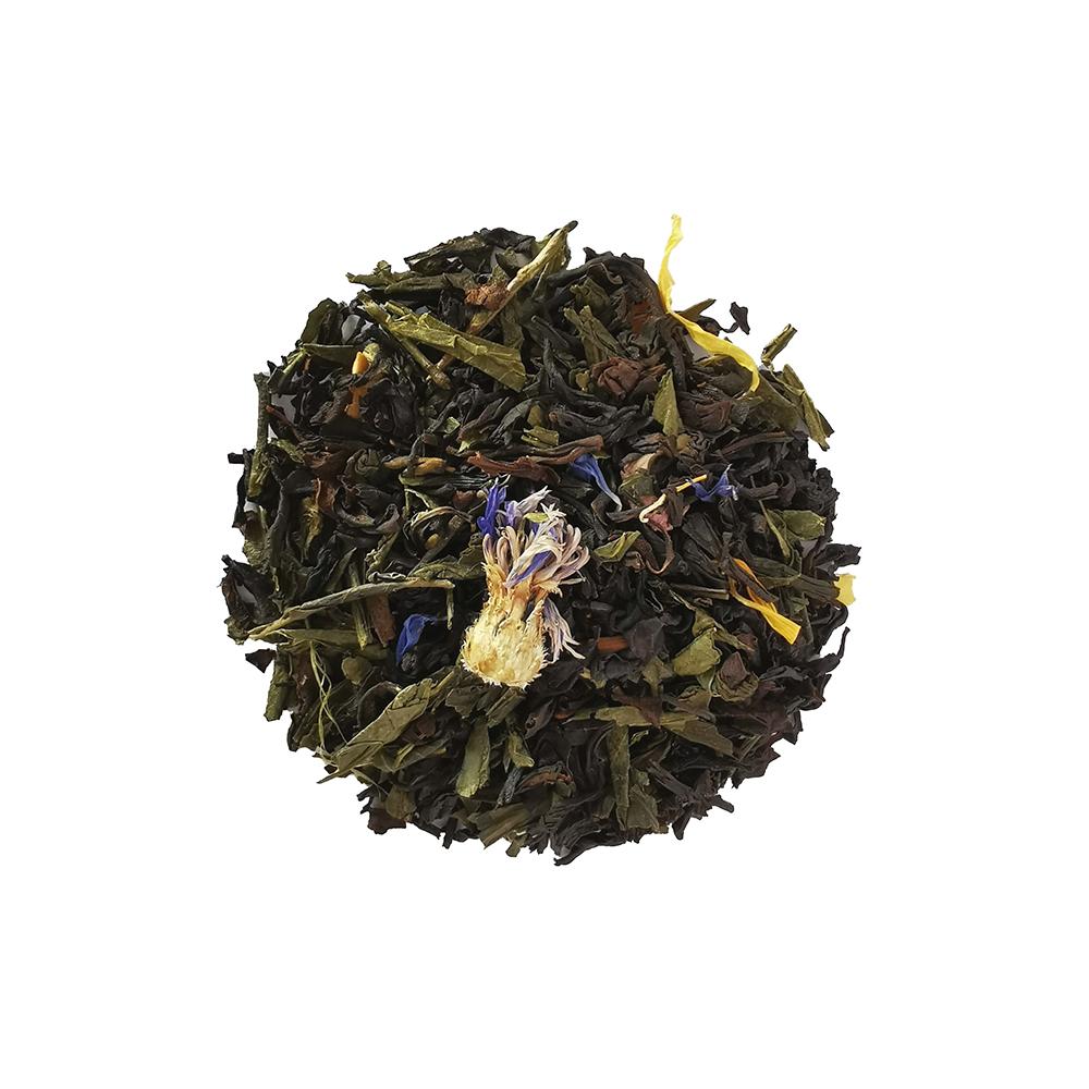 Blend de thé noir et vert fruité - Fruit de la passion et papaye