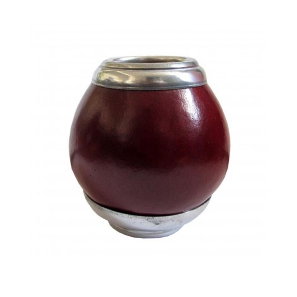 Calebasse rouge et son socle Gourde naturelle pour boire le maté Colors of Tea
