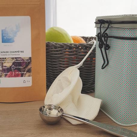Filtre à thé en coton lavable