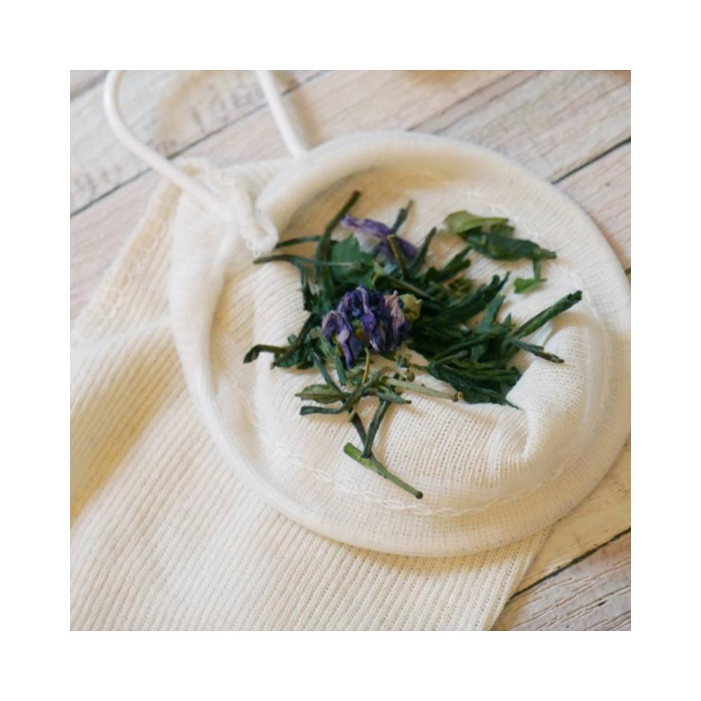 chaussette à thé Filtre à thé en coton lavable Colors of Tea