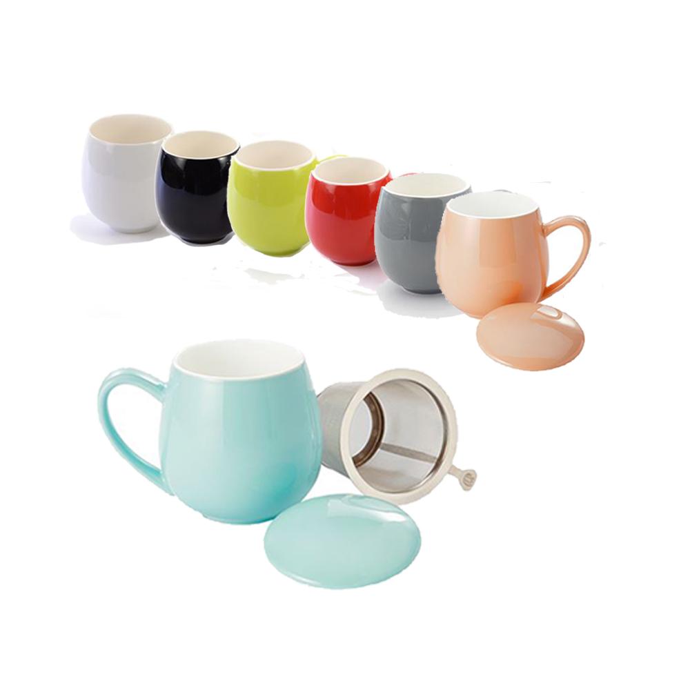 mugs brillants filtre intégrés Colors of Tea