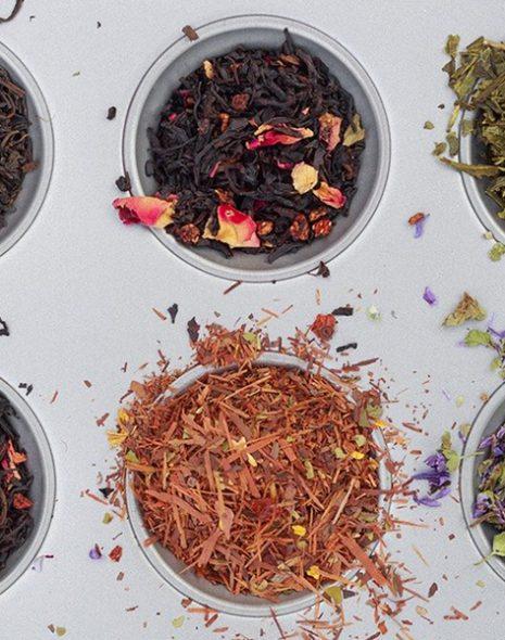 6 récipients de thé en vrac bandeau