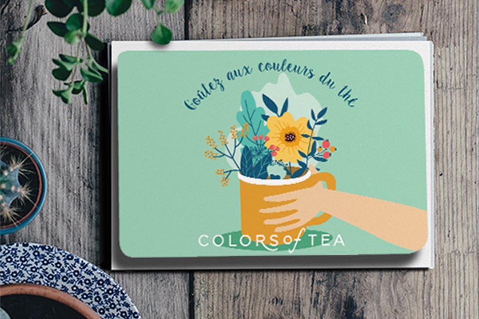 carte cadeau Colors of Tea