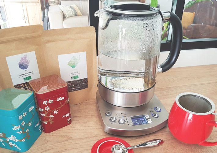 bouilloire en verre température avec thé Colors of Tea