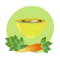 bol de soupe et carottes