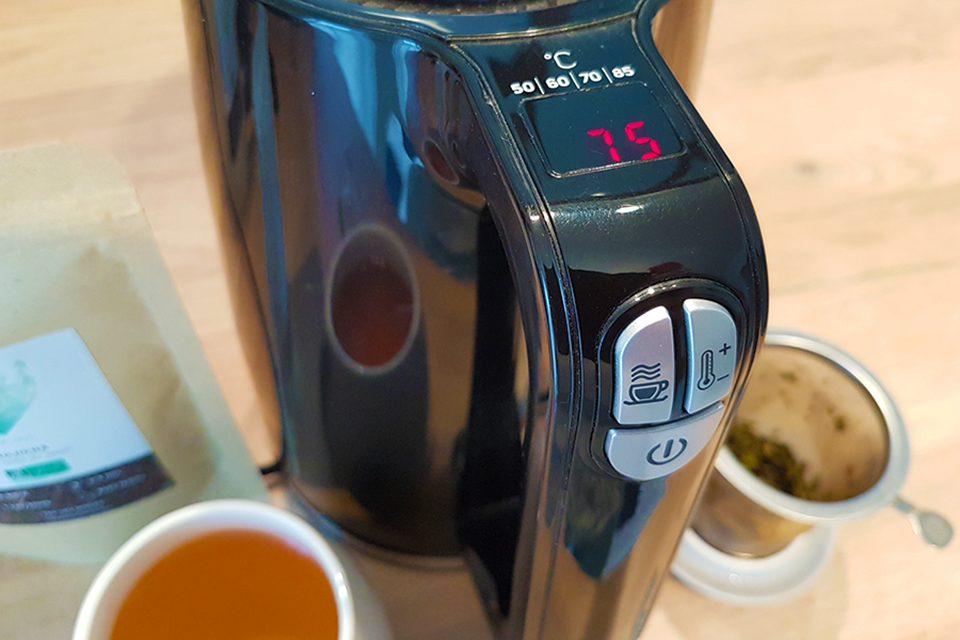 bouilloire noire température réglable