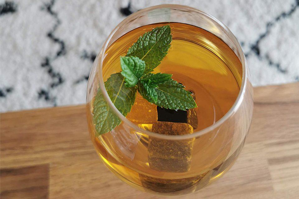 rooibos glacé menthe thé rouge sans théine colors of tea