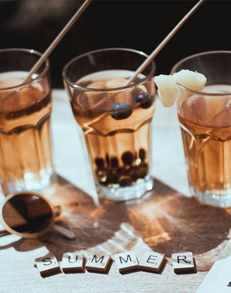 le thé en cocktail colors of tea